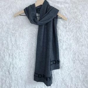 Dkny Accessories - ⚡️DKNY | Gray Sweater Knit Logo Scarf